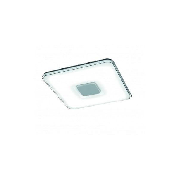 Biała kwadratowa lampa sufitowa LED sterowana zdalnie Trio Kyoto, 52,5x52,5 cm