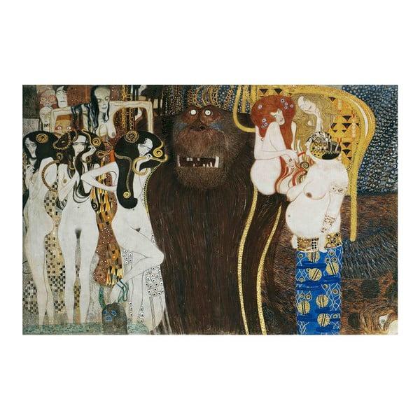 Gustav Klimt - obraz Beethoven Frieze, 90x60 cm