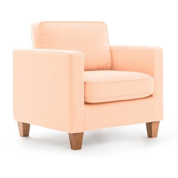 Jasnoróżowy fotel Vivonita Sorio