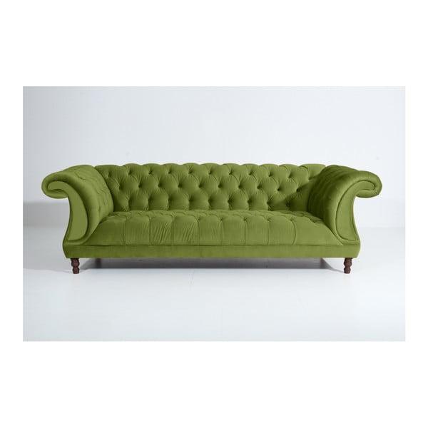 Ivette háromszemélyes olívazöld kanapé - Max Winzer