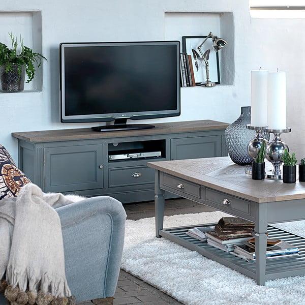 Šedý televizní stolek Canett Royal TV, 1 zásuvka