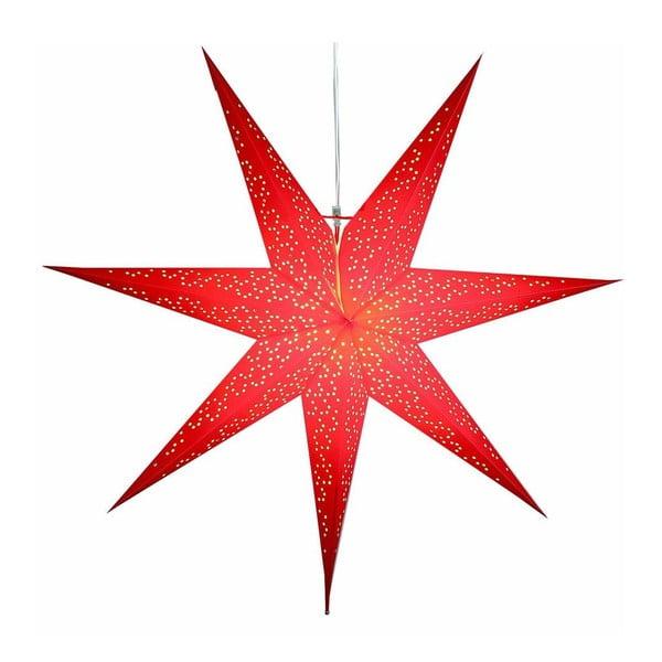 Červená závěsná svítící hvězda Best Season Dot Red, 70 cm