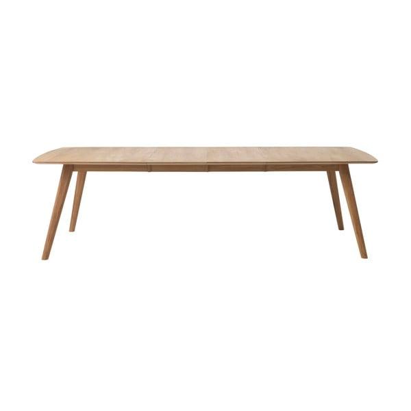 Rozkládací jídelní stůl z masivního dubu Unique Furniture Rho, 90 x 150/240 cm
