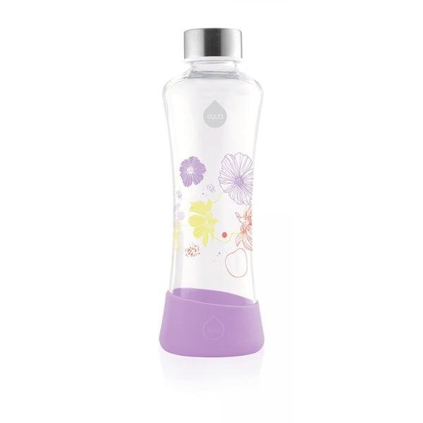 Fioletowa szklana butelka Equa Flowerhead Lily, 550 ml