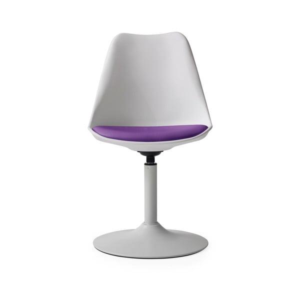 Bílá jídelní židle s fialovýmpodsedákem Tenzo Viva
