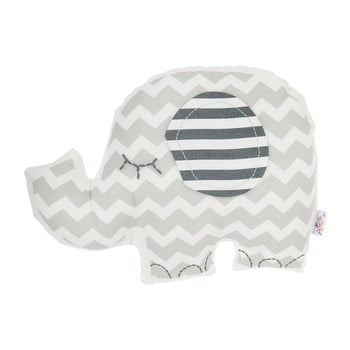 Pernă din amestec de bumbac pentru copii Apolena Pillow Toy Elephant, 34 x 24 cm, gri imagine