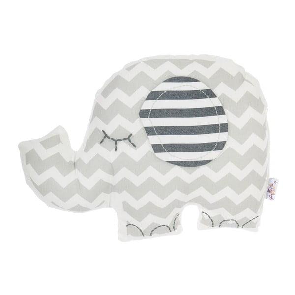 Pernă din amestec de bumbac pentru copii Apolena Pillow Toy Elephant, 34 x 24 cm, gri