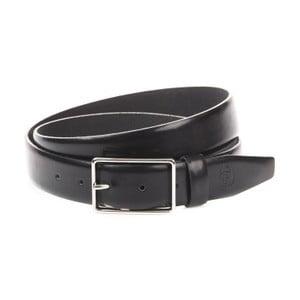 Černý kožený pánský pásek Trussardi, délka 115 - 130 cm