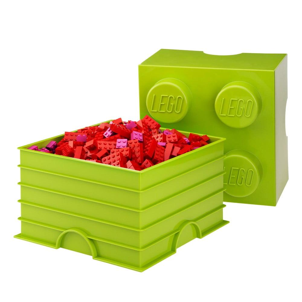 Limetkově úložný box čtverec LEGO®