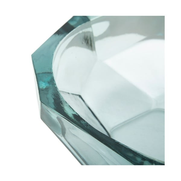 Bol din sticlă reciclată Mauro Ferretti Stone, ø25cm, albastru