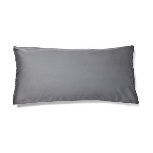 Sivá obliečka na vankúš z bavlneného saténu Casa Di Bassi Basic, 40×80 cm