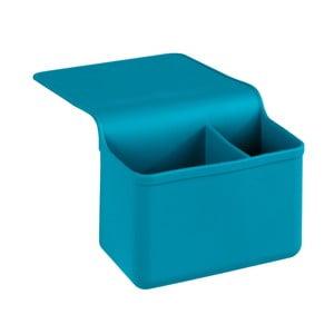 Modrý silikonový závěsný organizér Wenko Duo Ampio