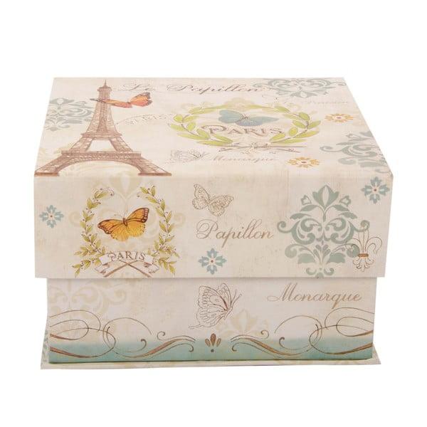 Sada 3 úložných krabic Papillon