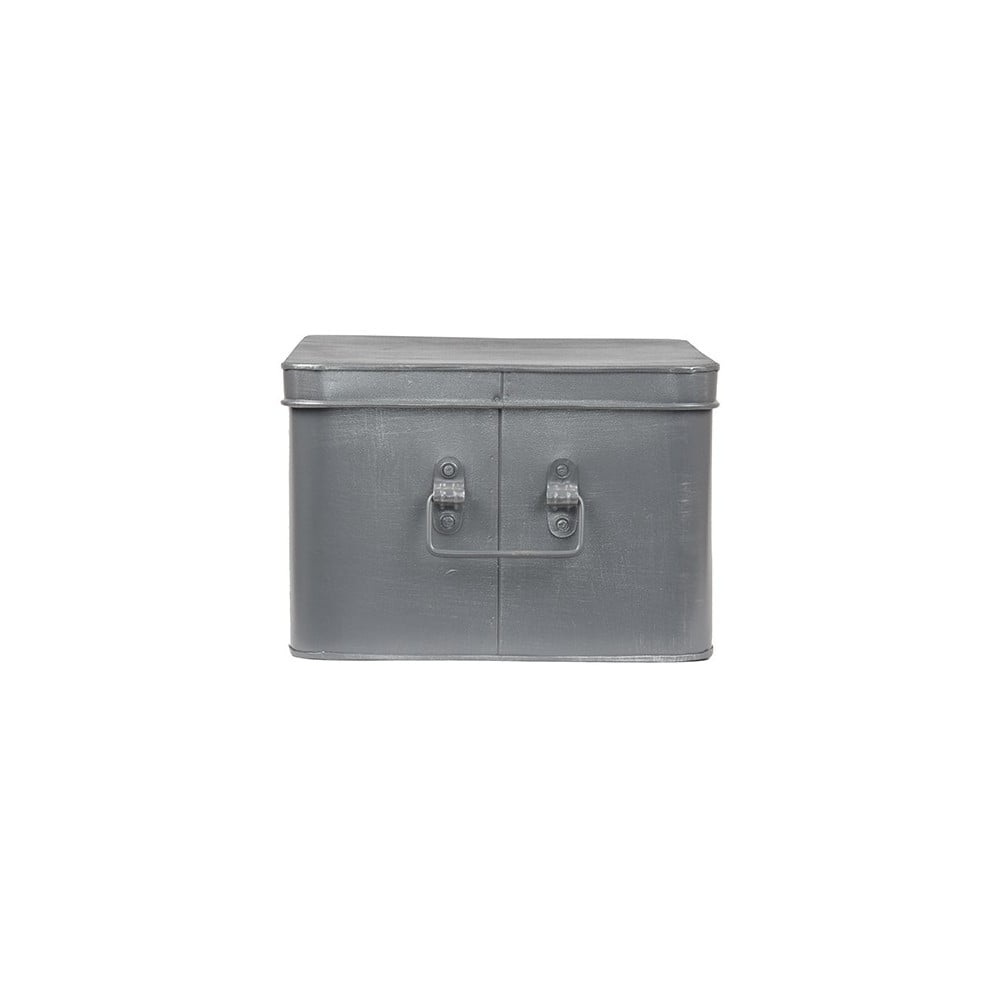 Kovový úložný box LABEL51 Media, šířka 35 cm