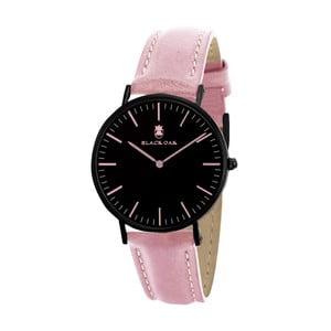 Růžovočerné dámské hodinky Black Oak Crown
