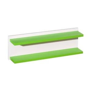 Bílá polička se zelenými detaily KICOTI Circle
