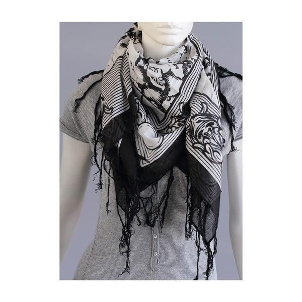 Černý vzorovaný šátek