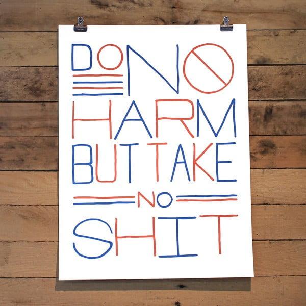 Plakát Do no harm, 61x46 cm