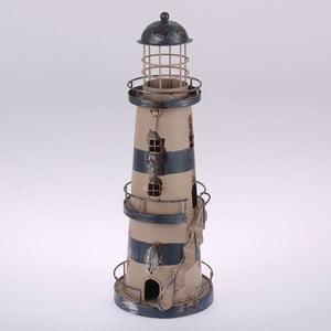 Kovový závěsný svícen Blue Lighthouse, 32 cm