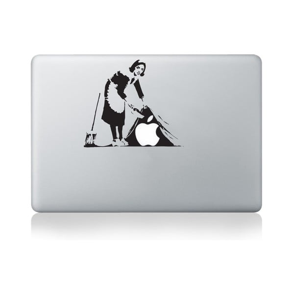 Samolepka na notebook Cleaning Lady by Banksy