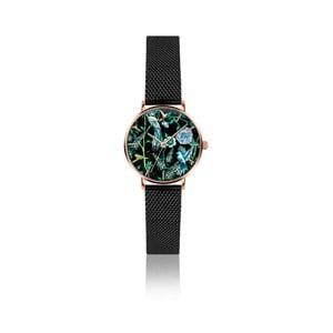 Dámské hodinky s černým páskem z nerezové oceli Emily Westwood Fun
