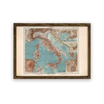 Tablou cu ramă din lemn Italy, 70 x 50 cm