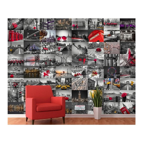 Kreativní koláž City Red