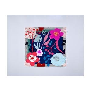 Módní šátek Madre Selva Asian Flowers, 55x55cm