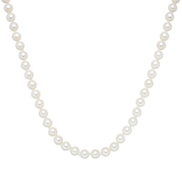 Perlový náhrdelník Muschel, bílé perly 8 mm, délka 120 cm