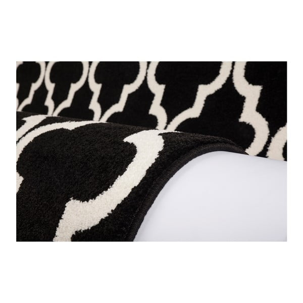 Černobílý koberec Obsession My Black & White Faw Blac, 80 x 150 cm