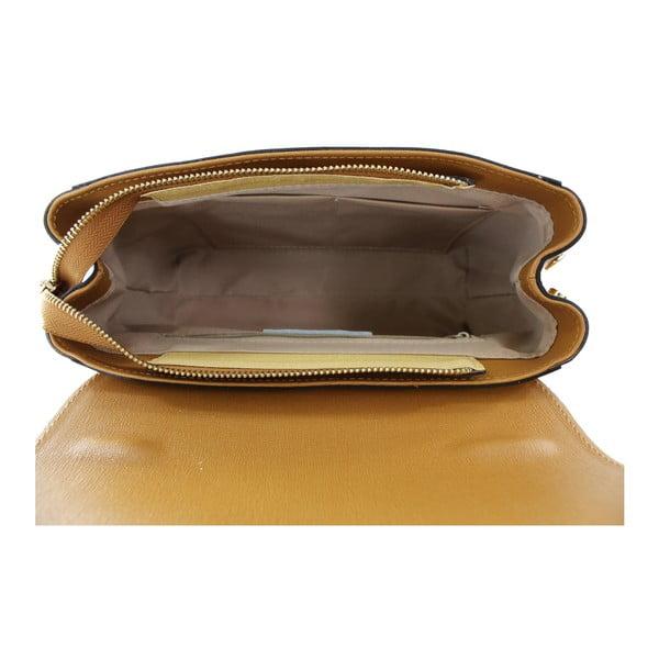 Koňakově hnědá kožená kabelka Chicca Borse Ashlee
