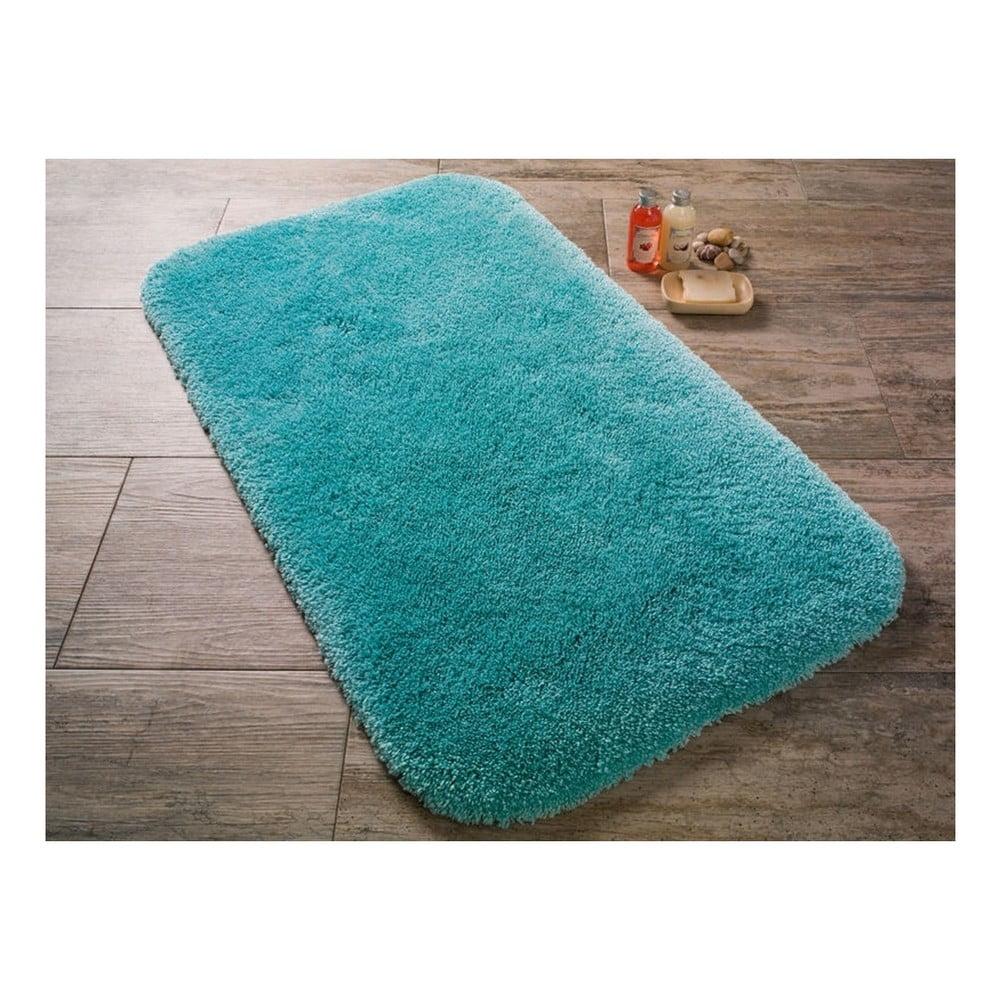 Tyrkysová předložka do koupelny Confetti Bathmats Miami, 100x100cm