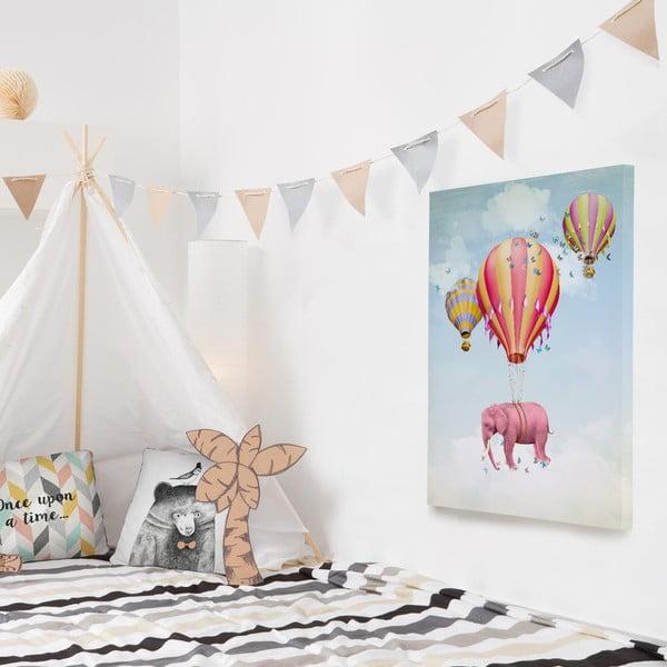 Obraz na plátně Flying Elephant, 50x70 cm