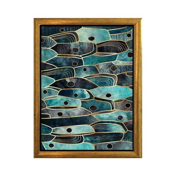 Plagát v ráme v zlatej farbe Piacenza Art Fishy