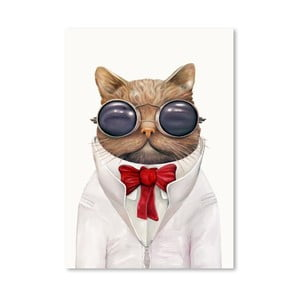 Plakát Astro Cat, 30x42 cm