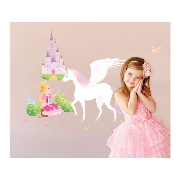 Set autocolante Ambiance Princess, Unicorn and Castle