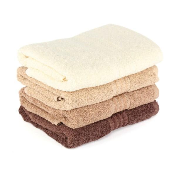 Zestaw 4 bawełnianych ręczników kąpielowych Rainbow, 70x140 cm