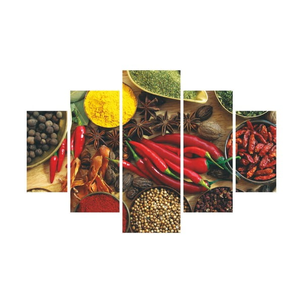 5dílný obraz Pepper