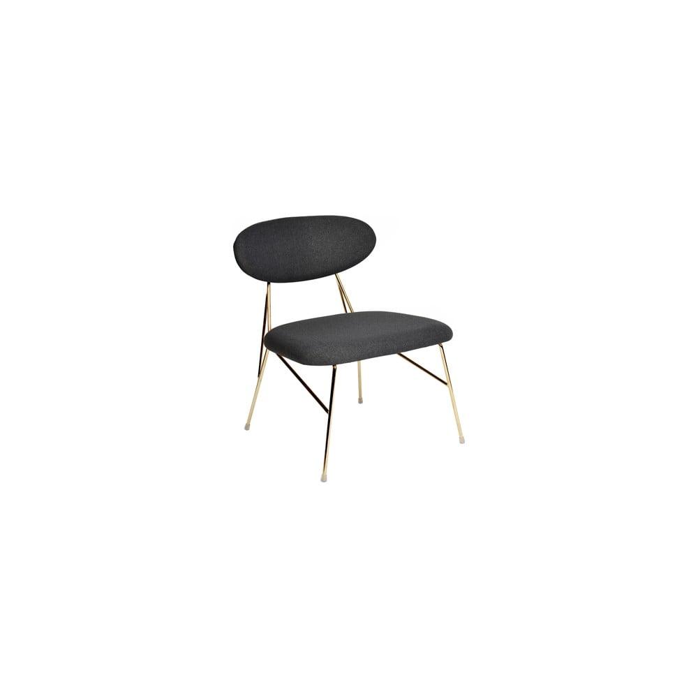Černá jídelní židle Leitmotiv Queen