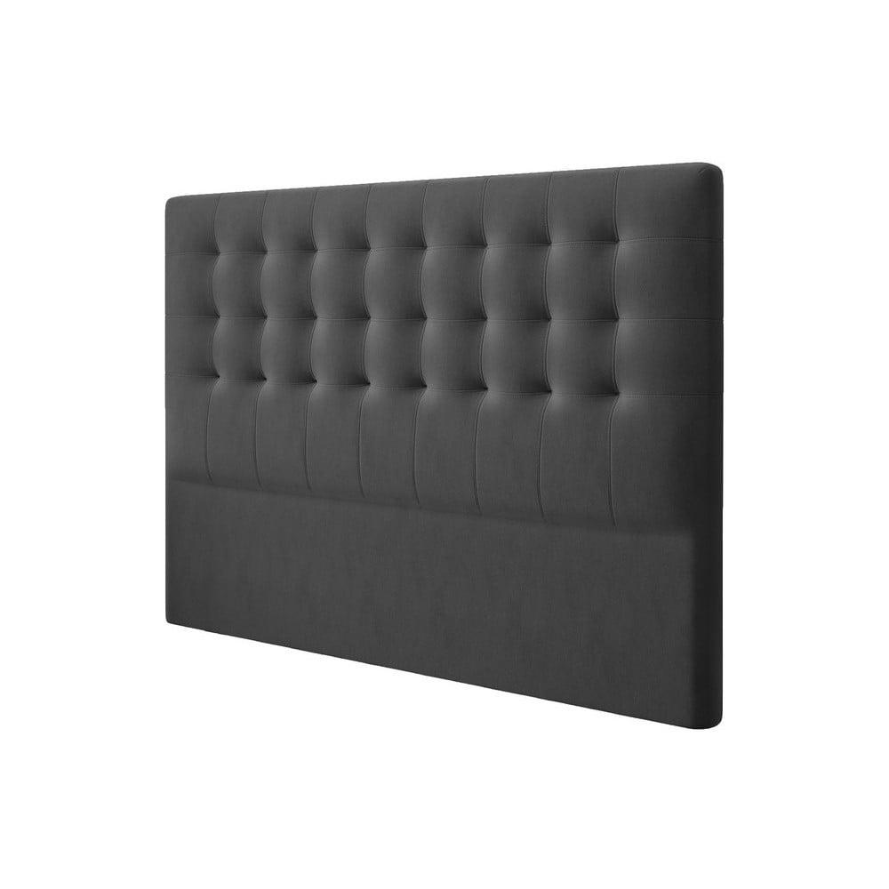 Produktové foto Tmavě šedé čelo postele se sametovým potahem Windsor & Co Sofas Athena, 160x120cm