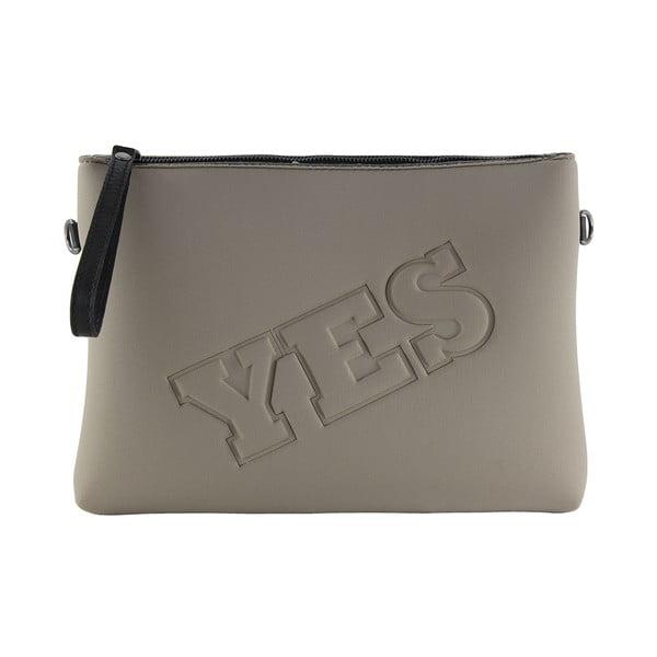 Neoprenové psaníčko Yes/No, šedé