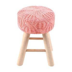 Taburetka Knitted Pink