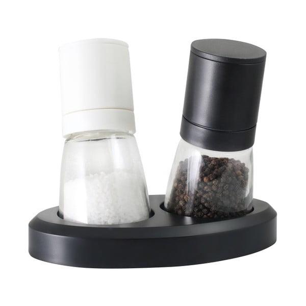 Set râșniță pentru sare și piper Vialli Design Black&White