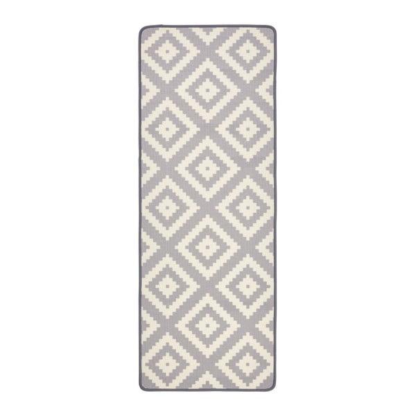 Szary chodnik kuchenny Zala Living Loop Diamond, 67x180 cm