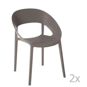 Sada 2 šedo-béžových židlí J-Line Lola