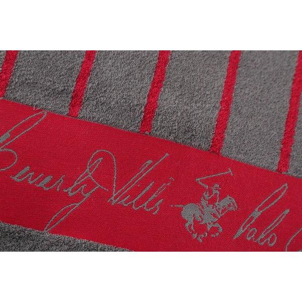 Bavlněný ručník BHPC 50x100 cm, červené pruhy