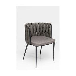 Sada 4 šedých židlí s polštářkem Kare Design Cheerio