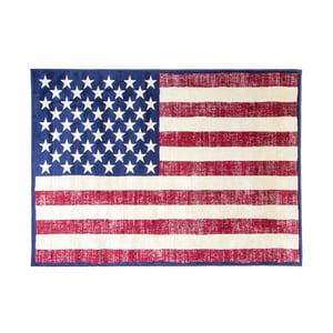 Koberec s motivem americké vlajky Cotex, 140 x 200 cm
