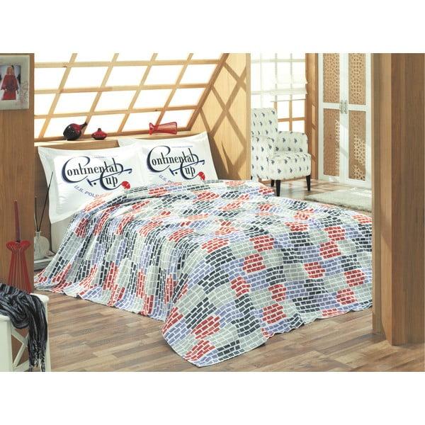 Set přehozu přes postel a prostěradla U.S. Polo Assn. Kenner,200x220cm