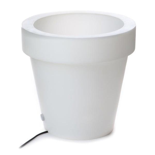 Ghiveci luminat Tomasucci Classic, ⌀ 45 cm, alb